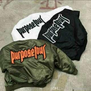 purpose tour bomber jacket (justin bieber)