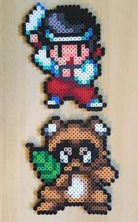 Hama beads design sprite art rocky and pocky