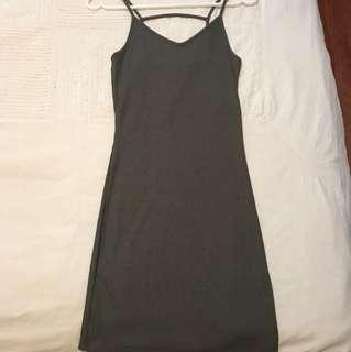Topshop Army Green Dress