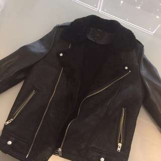 IRO shearling leather