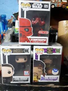 Assorted Funko Pop