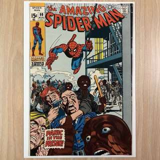 MARVEL COMICS The Amazing Spider-Man #99-Johnny Carson & Ed McMahon Appearance (Serious Buyers Only)
