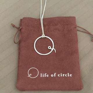 Life of Circle silver necklace
