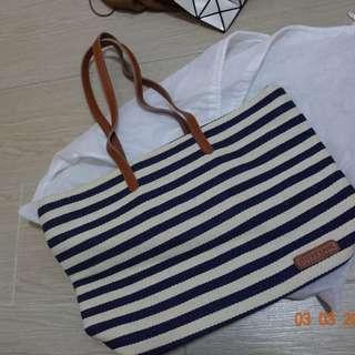全新藍白間手袋