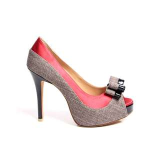 BRAND NEW RED GREY HEELS DESIGN E