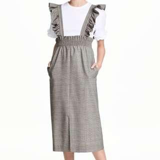 H&M ruffled Pinafore Dress
