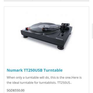 Numark TT250USB Turntable