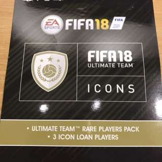 Fifa 18 Ultimate team loan icons ps4 code