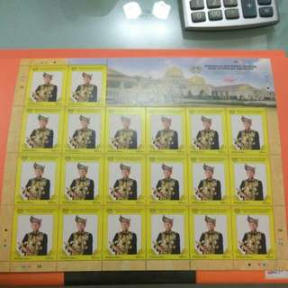 2012 Agong Stamps sheet 20pcs