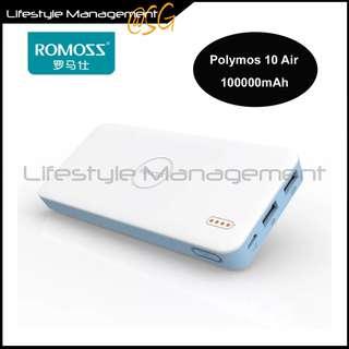 Romoss Powerbank 10000mAh Polymos10 Air Slim Light