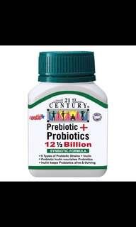 Prebiotic + Probiotics 12.5 Billion Per Capsule