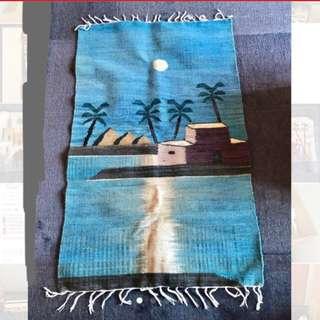 兩塊埃及全新手工掛氈,雙面一樣,兩面用,掛牆,掛玻璃皆可,放地板也可 Postage incl, 2 Egypt handmade hanging blanket,carpet