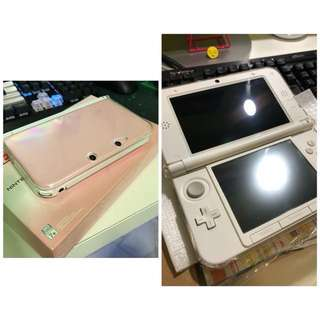 Preloved Nintendo 3DS XL Pink/White