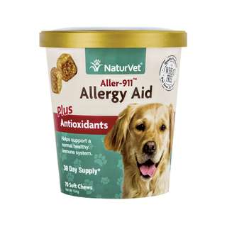 NaturVet Aller-911 Allergy Aid Plus Antioxidants Soft Chew Cup 70 cts