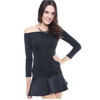 BNWT - MDS Off Shoulder Dress in Black