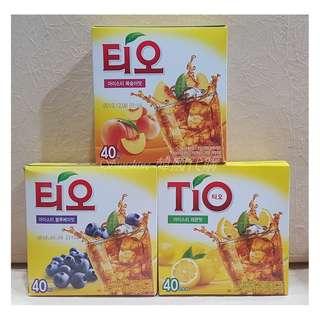 🚚 現貨 韓悅 TIO 藍莓冰茶 檸檬冰茶 13g 條 盒裝