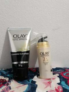 Olay Facial Cleanser and Day Cream