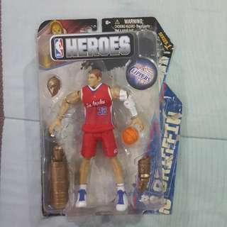 Legit Brand New With Damaged Box NBA Heroes Blake Griffin Los Angeles Clippers Toy Figure