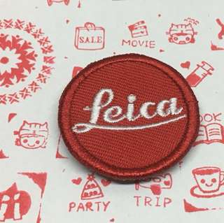 Leica shirt iron-on patch