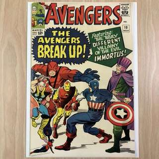 MARVEL COMICS The Avengers #10-1st Appearance of the Immortus|Captain America pin-up (Serious Buyers Only)