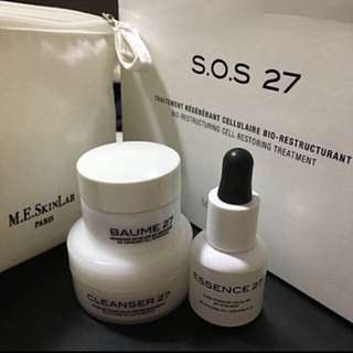 Authentic M.E. SKIN LAB S.O.S 27 BIO-RESTRUCTURING CELL RESTORING TREATMENT KIT