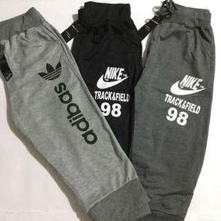 Knee jogging pants