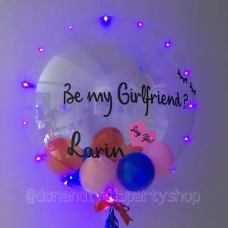 Customised bubble balloon