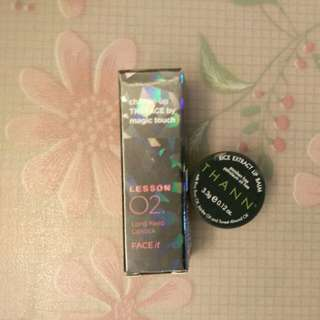 The Face Shop Long Keep Lipstick and Rice Extract Lip Balm