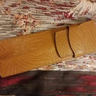 leather pen case..a.testoni