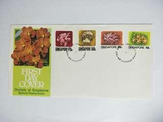 S'pore FDC Orchids 1979