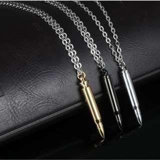 Silver Bullet Chain Necklace