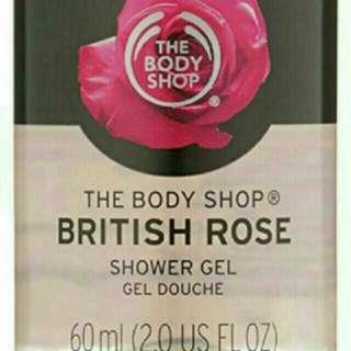 BN The Body Shop British Rose Shower Gel