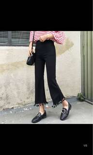 Trumpet Flare Pants with Tassels