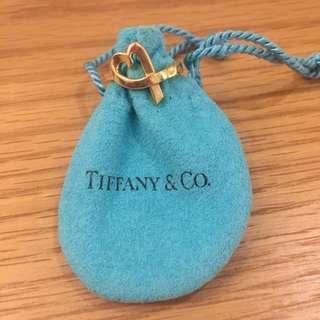 Tiffany picasso loving hearts 18k gold ring