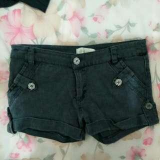 *黑色牛仔短褲 黑色短褲 反折褲 反折短褲