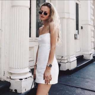 (4 Colours) Straight Cut Oriental White Bodycon Aline Dress