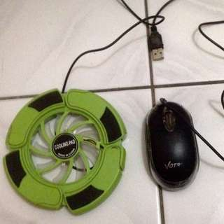 Mouse dan Cooling Pad (pendingin) Laptop