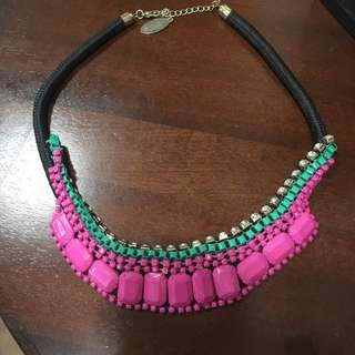 Pink/torquoise Jewel Necklace