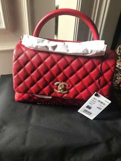 Bnib coco handle red med ghw #25@60,5jt