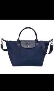 Longchamp Le Pliage Neo 1515 medium size navy blue