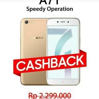 Promo Cashback Oppo A71 bisa kredit