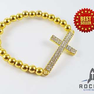 Gold Cross Bracelet (Available Now)