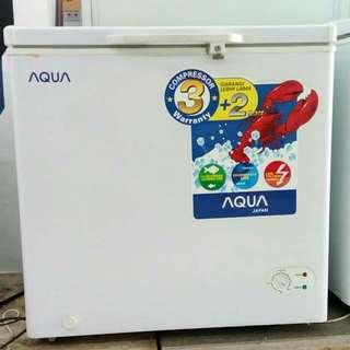 Aqua chest freezer 100 liter bisa cicilan tanpa kartu kredit