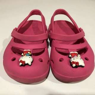 Crocs kids pink sandal hello kitty original
