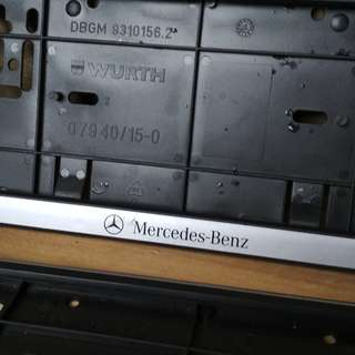 Number plate holder Mercedes Benz