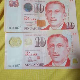 Singapore $10 note