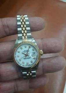Rolex ladies combi diamond'97,box (60jta)