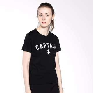 KaosBro - Kaos Cewek / T-Shirt Wanita / Tumblr Tee Captain - Merah Marun