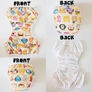 Washable Reusable Adjustable Swim Diapers / Swim Pants - Tsum