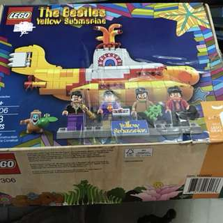 Lego Ideas Beatles Yellow Submarine sealed bag opened box not mint